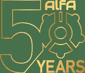 Logo 50 anni Alfa Pompe